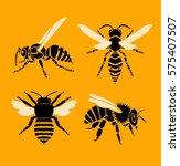 bee and wasp  vector... | Shutterstock .eps vector #575407507