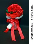 Red Rose Bouquet With Bow Tie...