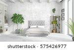 modern bright interior . 3d... | Shutterstock . vector #575426977