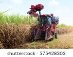 sugarcane harvester machine | Shutterstock . vector #575428303