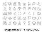 set vector line icons  sign and ... | Shutterstock .eps vector #575428927