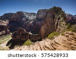 zion national park. view of... | Shutterstock . vector #575428933