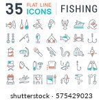 set vector line icons  sign and ... | Shutterstock .eps vector #575429023