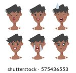 set of emotional character.... | Shutterstock .eps vector #575436553