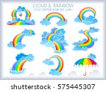 different forms of rainbow ... | Shutterstock .eps vector #575445307