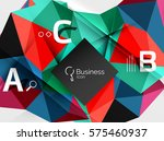 polygonal triangle abstract... | Shutterstock .eps vector #575460937