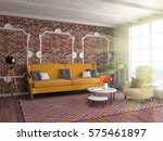 interior with sofa. 3d... | Shutterstock . vector #575461897