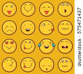 emoticon vector illustration.... | Shutterstock .eps vector #575471437