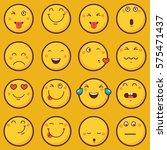emoticon vector illustration.... | Shutterstock .eps vector #575471437