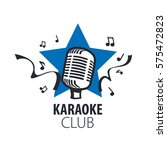 vector logo karaoke | Shutterstock .eps vector #575472823