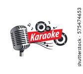 vector logo karaoke   Shutterstock .eps vector #575474653