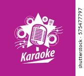 vector logo karaoke   Shutterstock .eps vector #575477797
