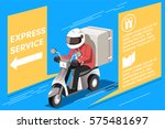 motorcycle express service.... | Shutterstock .eps vector #575481697