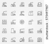 factory icons set   vector... | Shutterstock .eps vector #575497987