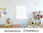 mock up posters in children... | Shutterstock . vector #575498413