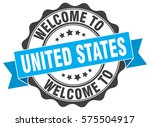 united states. welcome to... | Shutterstock .eps vector #575504917
