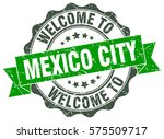 mexico city. welcome to mexico... | Shutterstock .eps vector #575509717