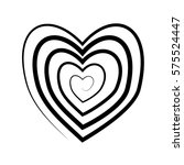 heart icon painted black line.  | Shutterstock .eps vector #575524447