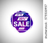 sale up to 30  off banner sign... | Shutterstock .eps vector #575533957