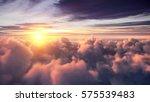 flying over the evening... | Shutterstock . vector #575539483