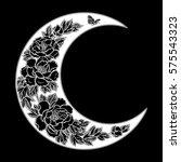 beautiful romantic crescent... | Shutterstock .eps vector #575543323