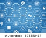 big data background with... | Shutterstock .eps vector #575550487