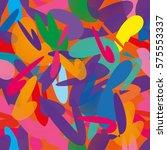 vivid geometrical seamless... | Shutterstock .eps vector #575553337