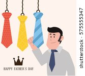 happy father day card icon... | Shutterstock .eps vector #575555347