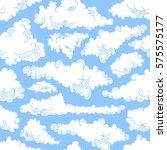 cloud seamless pattern sky air. ...   Shutterstock .eps vector #575575177