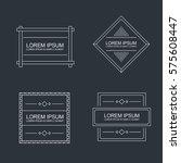 set of vector outline text... | Shutterstock .eps vector #575608447