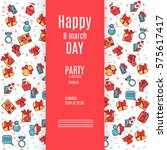 postcard for party invitation... | Shutterstock .eps vector #575617417