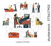 infographics with flowchart of... | Shutterstock .eps vector #575617903