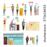 collection of decorative... | Shutterstock .eps vector #575618053
