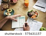 health nutrition apple healthy... | Shutterstock . vector #575631157