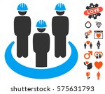 engineer community icon with... | Shutterstock .eps vector #575631793