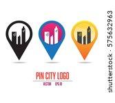 pin city logo | Shutterstock .eps vector #575632963