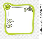 green frame for your text and... | Shutterstock .eps vector #575637217