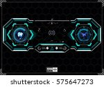 hud background. dashboard... | Shutterstock .eps vector #575647273