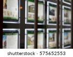 real estate agency window... | Shutterstock . vector #575652553
