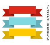 color ribbons icon. flat... | Shutterstock . vector #575653747