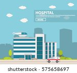 city hospital building with... | Shutterstock .eps vector #575658697