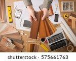 professional interior designer...   Shutterstock . vector #575661763