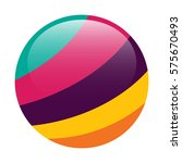 abstract sphere with colorful... | Shutterstock .eps vector #575670493