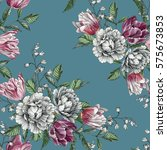 floral seamless pattern with... | Shutterstock . vector #575673853