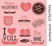 heart. valentine's day posters... | Shutterstock .eps vector #575675953