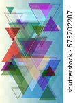 geometric background idea | Shutterstock .eps vector #575702287
