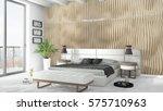 modern bright interior . 3d... | Shutterstock . vector #575710963