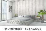 modern bright interior . 3d... | Shutterstock . vector #575712073