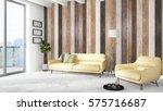 modern bright interior . 3d... | Shutterstock . vector #575716687