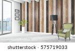 modern bright interior . 3d... | Shutterstock . vector #575719033